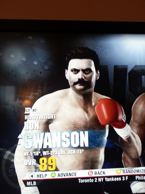 fight night ron swanson boxing - 8375396608