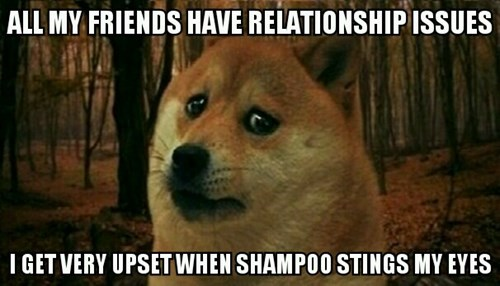 relationship Sad problem shampoo - 8375443968