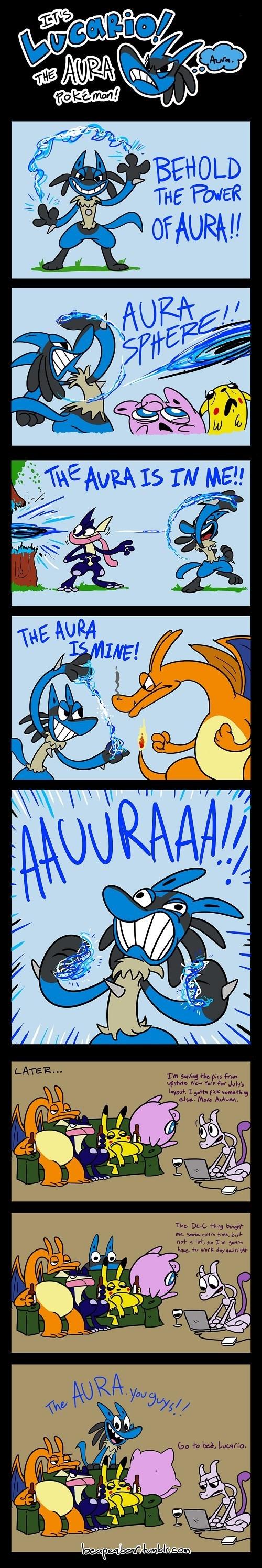 puns Pokémon lucario web comics aura - 8375451392