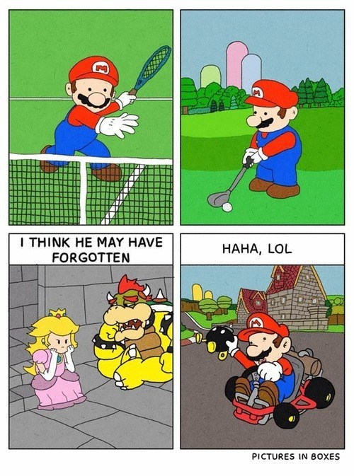 Mario is Off Doing His Own Thing