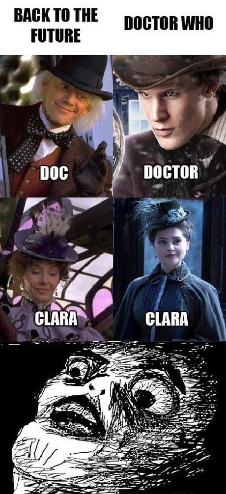 11th Doctor back to the future clara oswin oswald - 8375531008