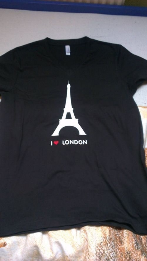 paris London shirt geography eiffel tower