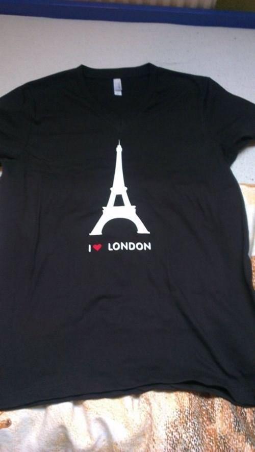 paris London shirt geography eiffel tower - 8375660032