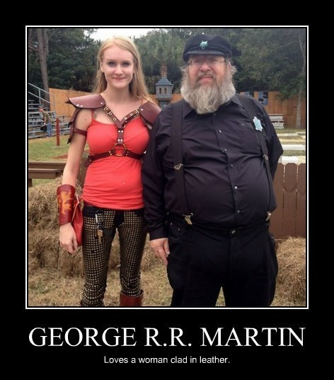Sexy Ladies,George RR Martin,leather,funny