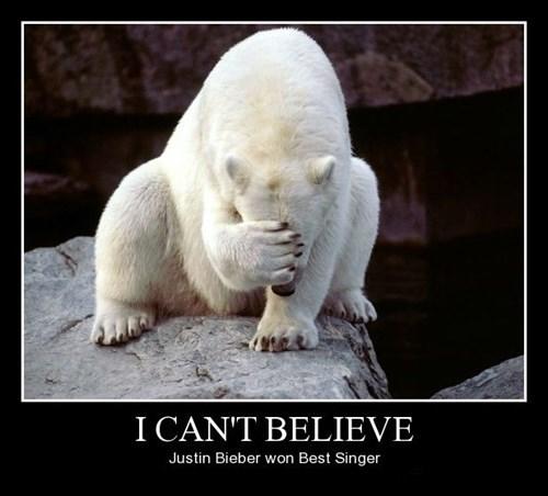 polar bear,funny,justin bieber