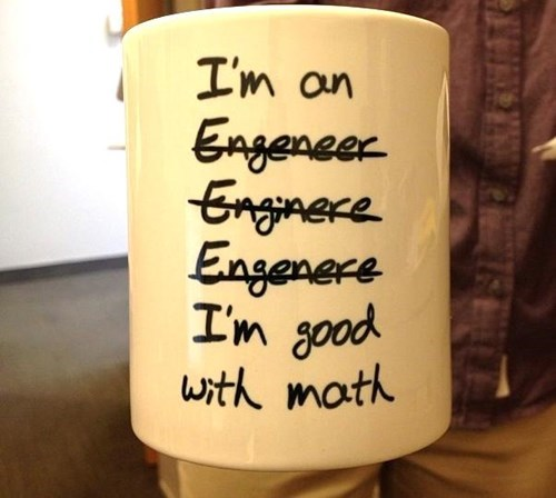engineering spelling math funny mug g rated School of FAIL - 8375979008