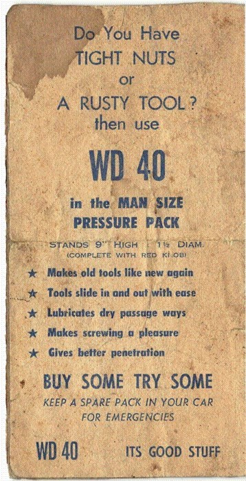 innuendo funny naughty vintage WD-40 dating - 8376018176
