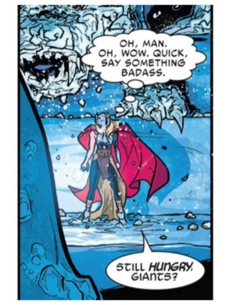 one liner Thor Straight off the Page quip - 8376086272