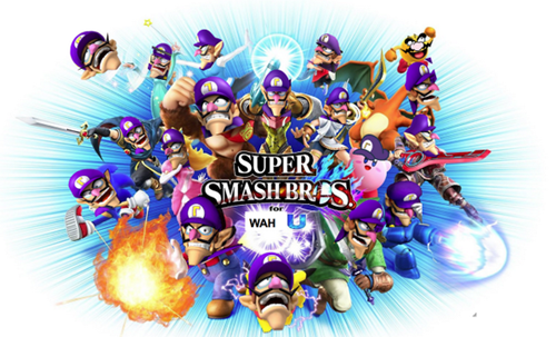 shopped super smash bros waluigi - 8376096000