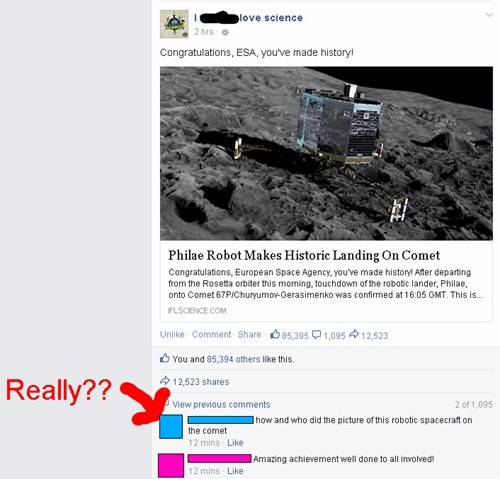 nasa conspiracy comet philae - 8376103168