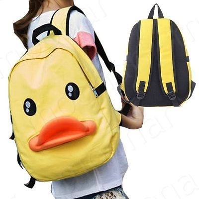backpack,ducks,poorly dressed