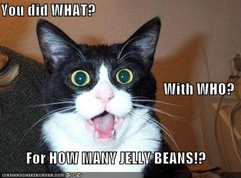 You Did What With Who For How Many Jelly Beans Cheezburger