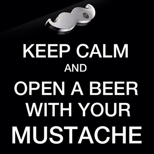 beer mustache funny keep calm - 8376248320