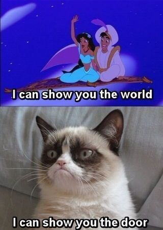 Grumpy Cat disney aladdin - 8376254720