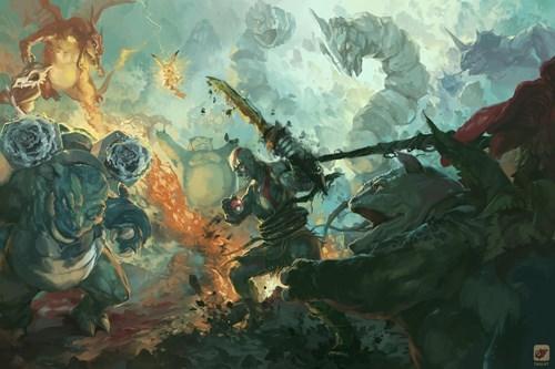 Pokémon Fan Art god of war video games kratos - 8376285952