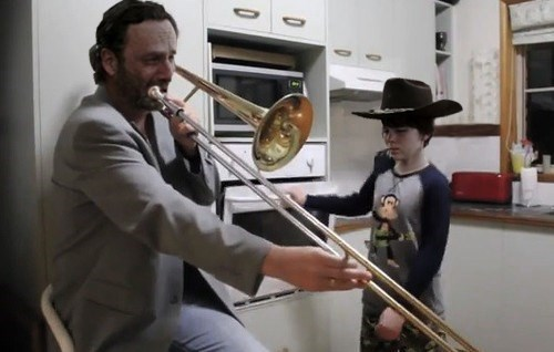 Rick Grimes carl grimes boy's night - 8376291584