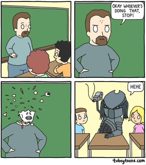 school Predator wish web comics