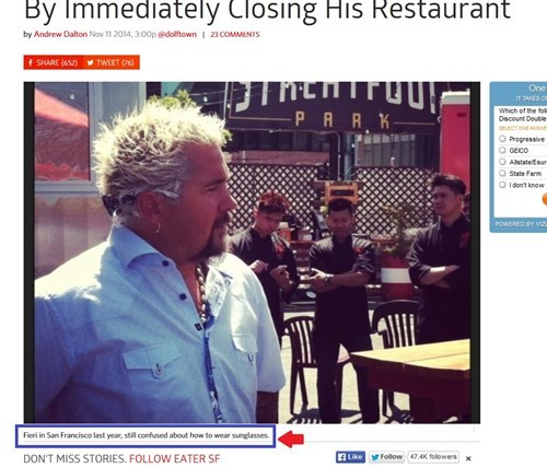 headline Guy Fieri caption