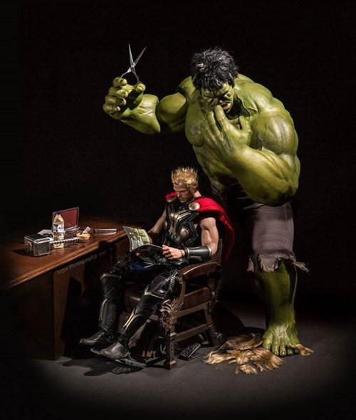 hair Thor the incredible hulk - 8376840448