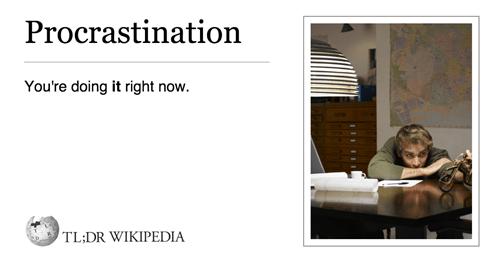 monday thru friday procrastination tldr - 8376905984