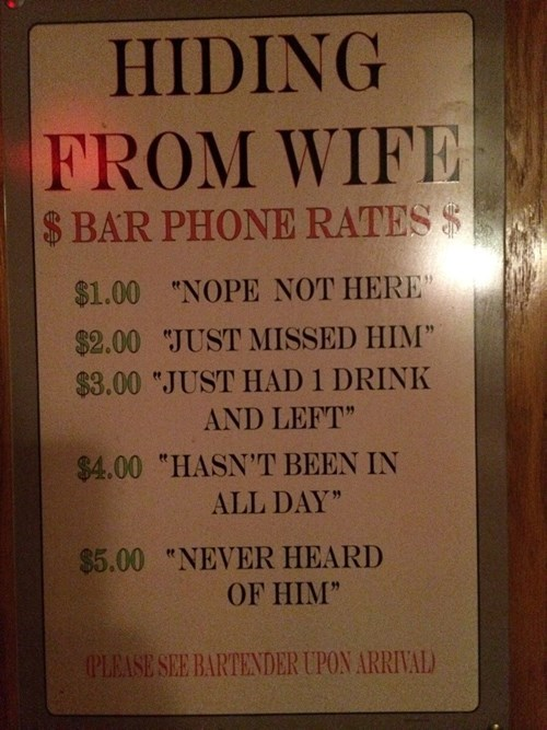 wife pub hiding funny dating - 8376945920