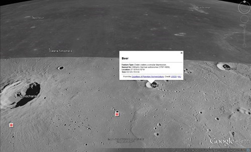 There\'s a Beer Crater on the Moon?