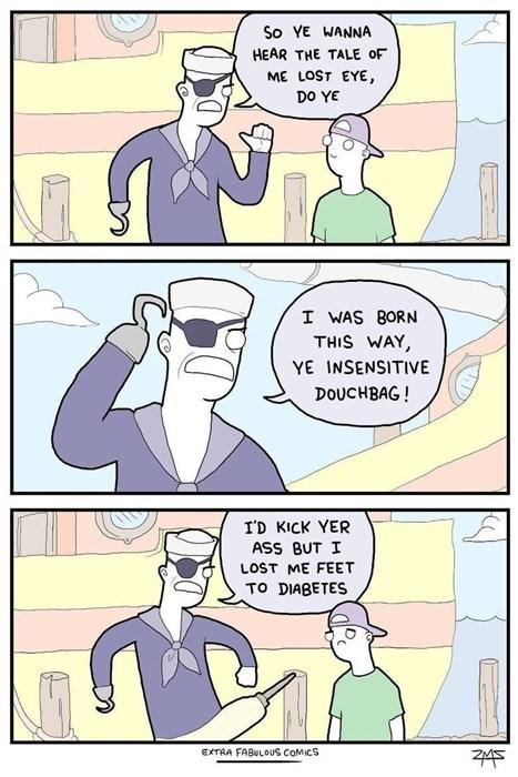 diabetes pirates sad but true web comics - 8377021696
