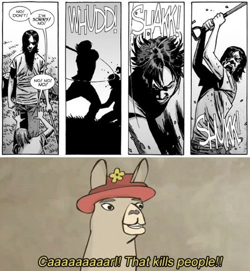 that kills people carl grimes Straight off the Page - 8377079296