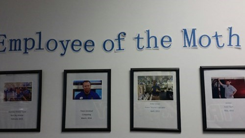 monday thru friday,employee of the month,misspelling,spelling