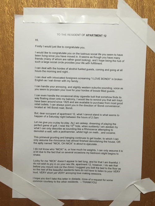 neighbors note apartment fail nation g rated - 8377198848