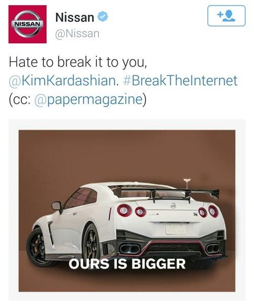 nissan,twitter,kim kardashian,failbook