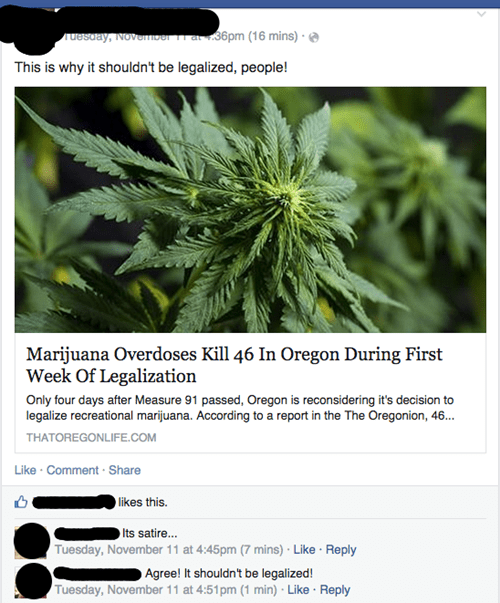 marijuana fake satire failbook