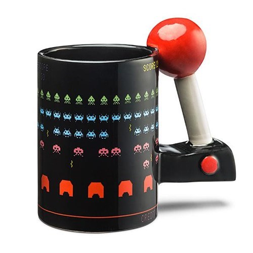 space invaders design nerdgasm video games mug