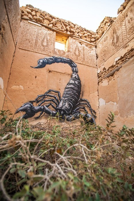 Street Art graffiti hacked irl scorpion - 8377222144