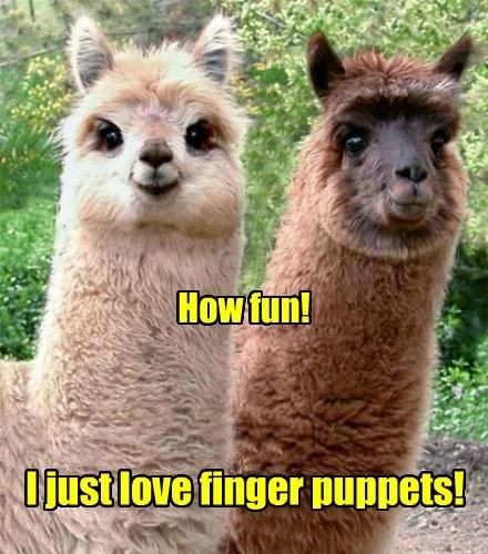 llama finger puppet - 8377314048