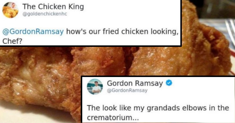 twitter cooking gordon ramsay meal chef tweets roast insults insult funny tweets food celebrity twitter funny - 8377349
