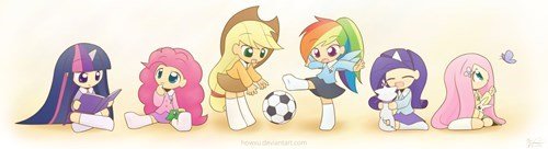 mane 6,kids,squee