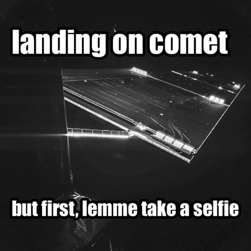Rosetta's Philea lander snaps selfie photo of spacecraft
