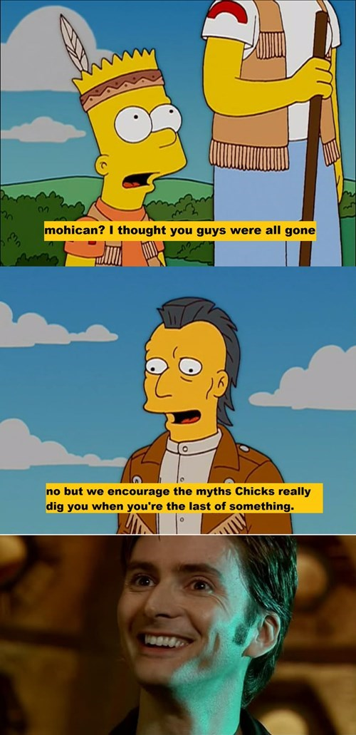 last of the mohicans David Tennant the simpsons - 8377699072
