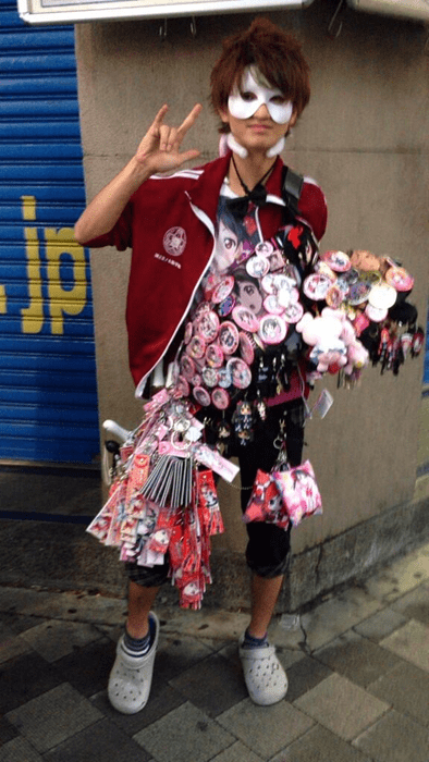 poorly dressed anime crocs - 8377717504