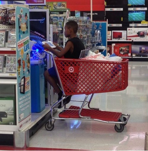 kids,shopping cart,parenting,Target,video games