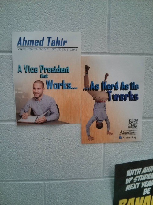 student government advertisement election funny g rated School of FAIL