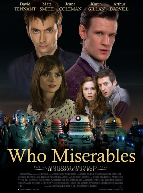 mashup,doctor who,Les Misérables
