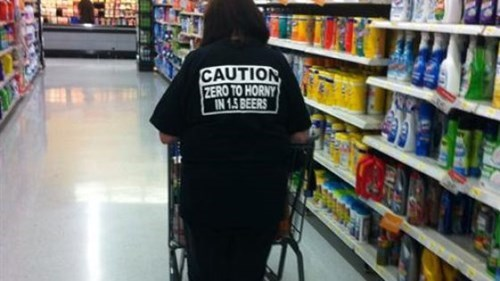 beer poorly dressed t shirts grocery store - 8377776640