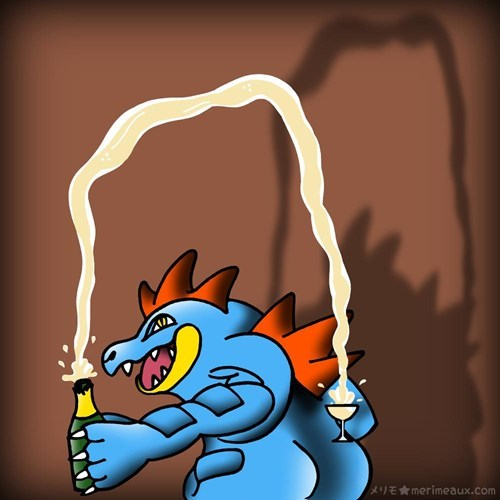 Pokémon champagne feraligatr break the internet - 8377793024