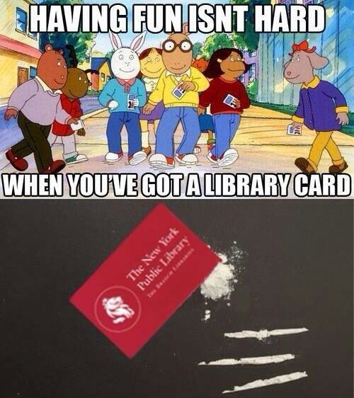 drugs,library,funny