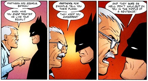 commissioner gordon Straight off the Page batman - 8377933312