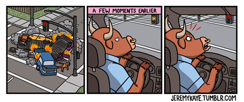 road rage driving bulls web comics - 8377939712