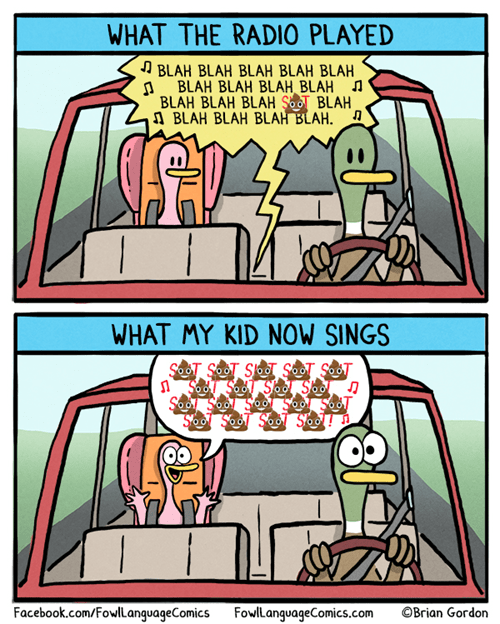 Songs,Music,poop,kids,swearing,web comics