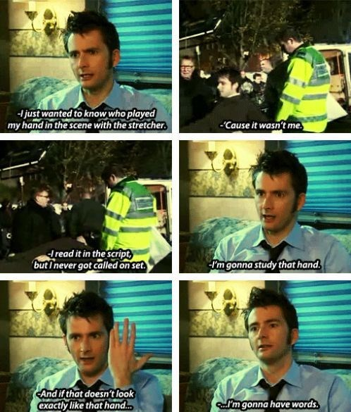 David Tennant,10th doctor,stand in